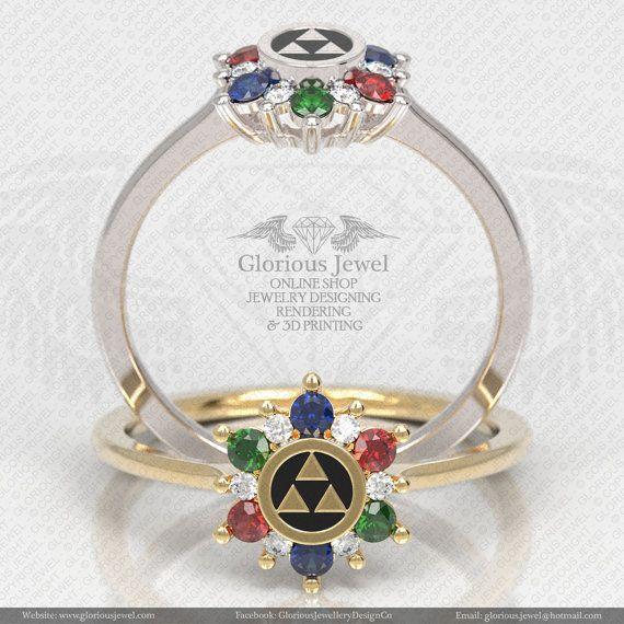 Glorious legend of Zelda hyrule triforce by GloriousJewelOnline