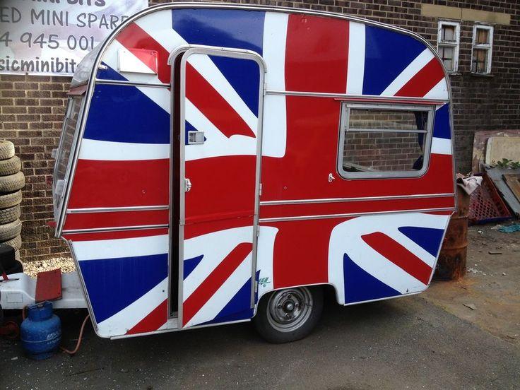Classic Thomson T-Line Mini Glen 2 Berth Caravan ideal for mini Union Jack