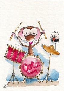 Mouse rocks on the drums