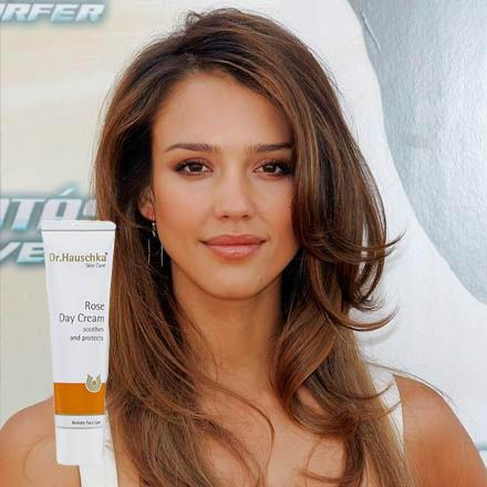 Jessica Alba loves Dr. Hauschka Rose Day Cream to keep her skin hydrated, especially while traveling. Learn more about this at Skin1.