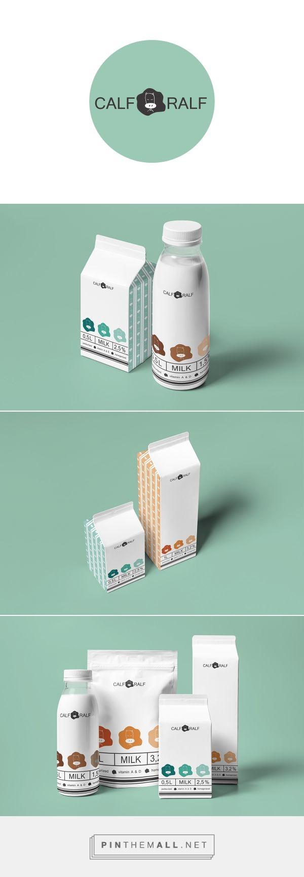 Calf Ralf on Behance by Katya Oposhnyanskaya Kiev, Ukraine curated by Packaging Diva PD. Really cute packaging design concept for milk.
