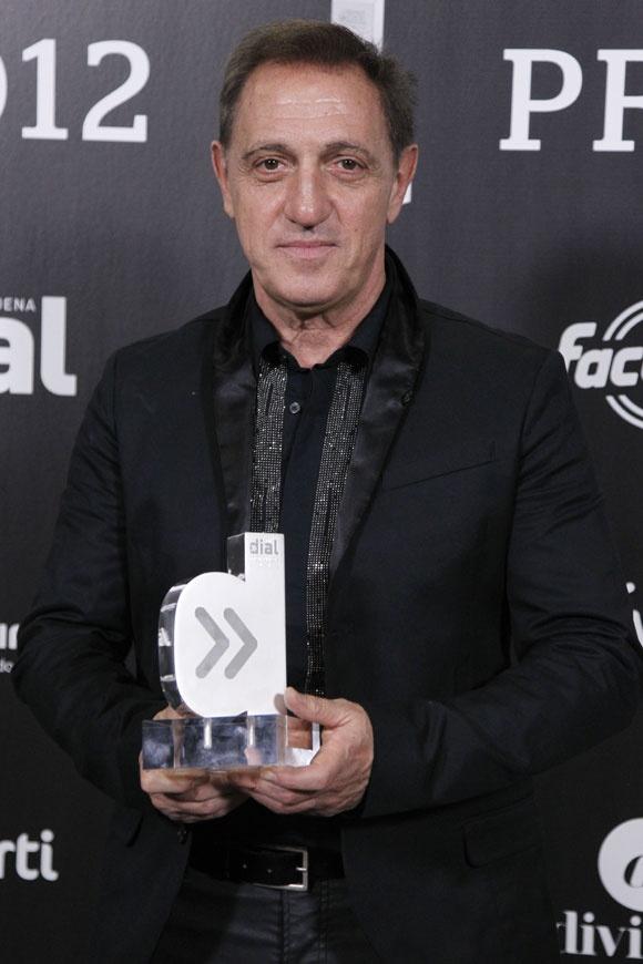 El cantante y compositor venezolano Franco De Vita en los Premios Dial