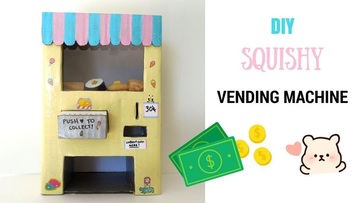 My Squishy Vending Machine (Vlog) | mishcrafts