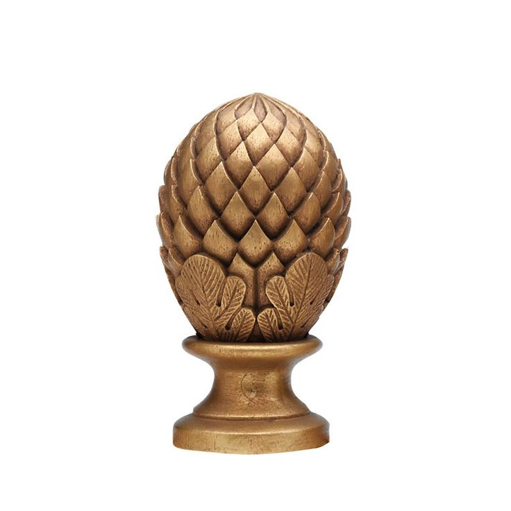 """Pinecone Curtain Rod Finials for 1 3/8"""" Drapery Rods~Pair"""