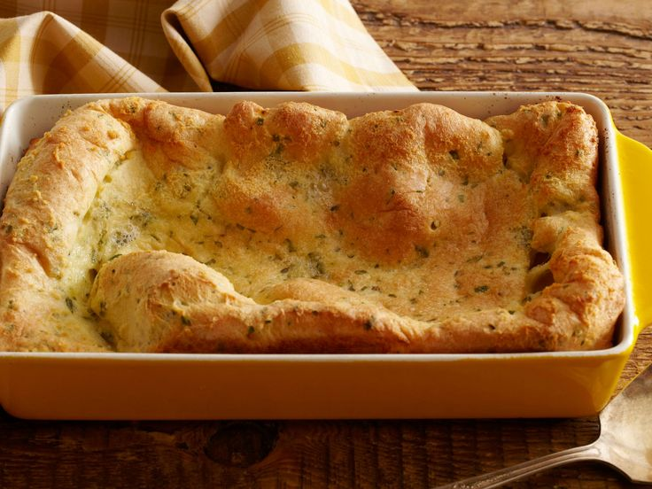 Herbed Yorkshire Pudding recipe from Tyler Florence via Food Network