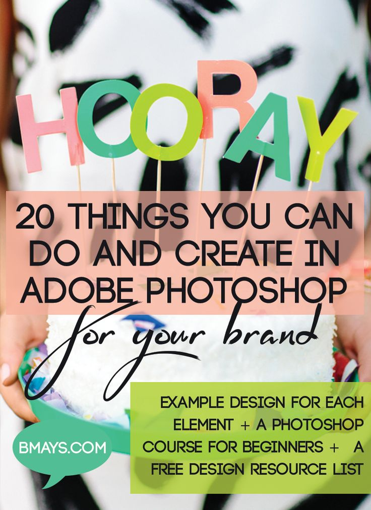 You can do a lot for your brand with a little bit of Photoshop knowledge. Here you will find 20 things you do or create for with Adobe Photoshop. Also get the free resource list and find out about the awesome Photoshop course for beginners that just launched.