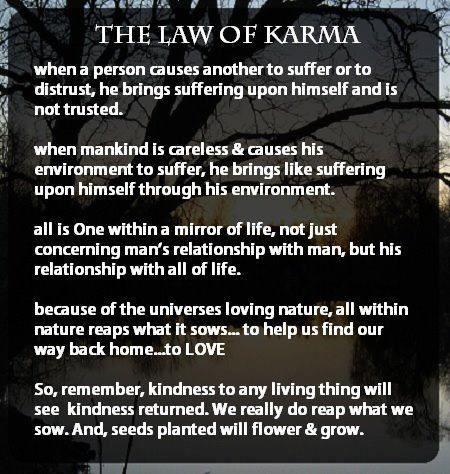 karma quotes and pic | The law of Karma | Photo Quotes