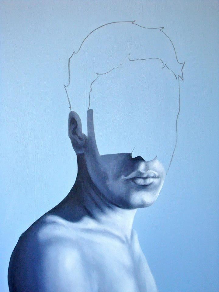 Eduardo Mata Art - placid blue paint