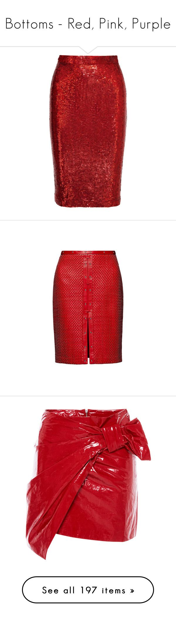 """""""Bottoms - Red, Pink, Purple"""" by lynesse ❤ liked on Polyvore featuring skirts, bottoms, pencil skirts, givenchy, red, silk skirt, pencil skirt, red pencil skirt, knee length pencil skirt and red knee length pencil skirt"""