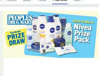 People's Drug Mart is running a Prize Draw contest on Facebook.  One lucky winner will receive a Nivea skin care prize pack.