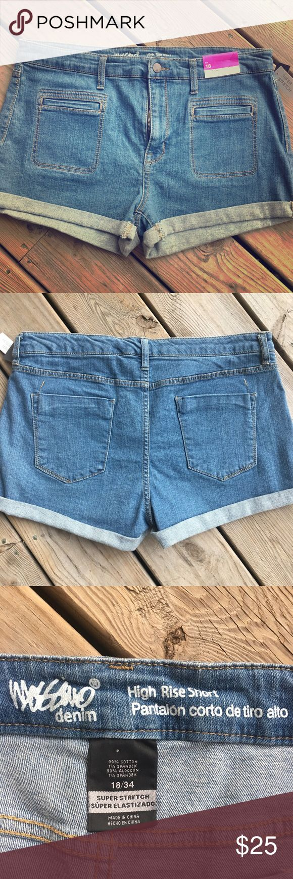 🛍Just In🛍Mossimo High Rise Super Stretch Shorts Brand New Jean Shorts.  They are high rise and super stretch Mossimo Supply Co Shorts Jean Shorts