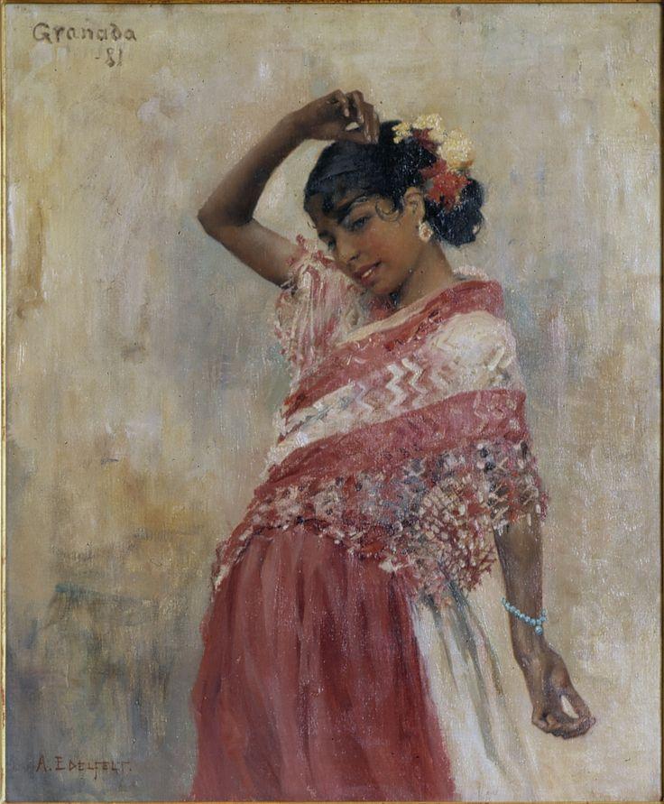 Albert Edelfeltin Tanssiva Gitana.