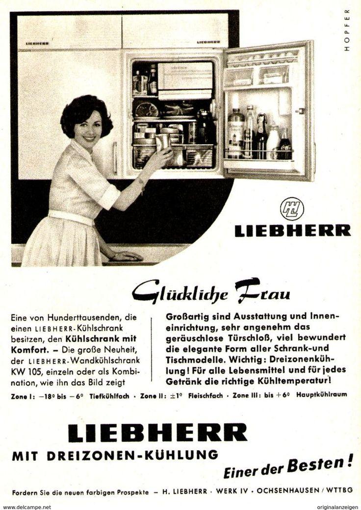 Original-Werbung/ Anzeige 1961 - LIEBHERR KÜHLSCHRÄNKE - Ca. 120 X 170 Mm - Werbung