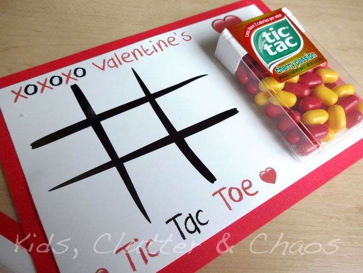 FREE PRINTABLE - Tic Tac Toe Kids Valentine's Day Cards