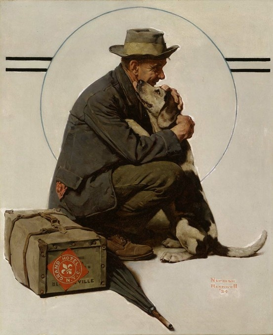 norman rockwell. I saw this painting at the Museum of American Art in DC.