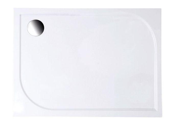 Aqualine Galet LQ10080 aszimmetrikus öntött márvány zuhanytálca 100x80