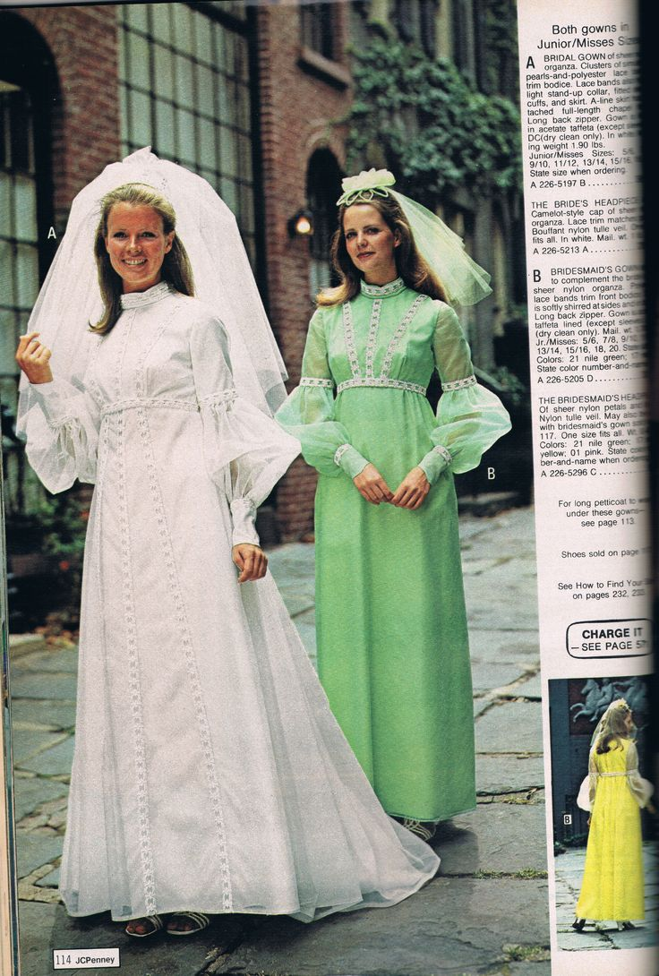 Penneys catalog 1973 vintage bridal and bridesmaid for 1970 s style wedding dresses
