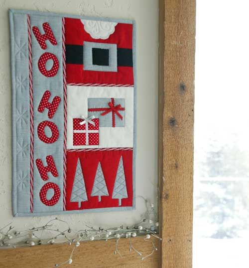 Ho Ho Ho! by ZJ Humbach. Get the pattern in Quilters Newsletter's Best Christmas Quilts 2013