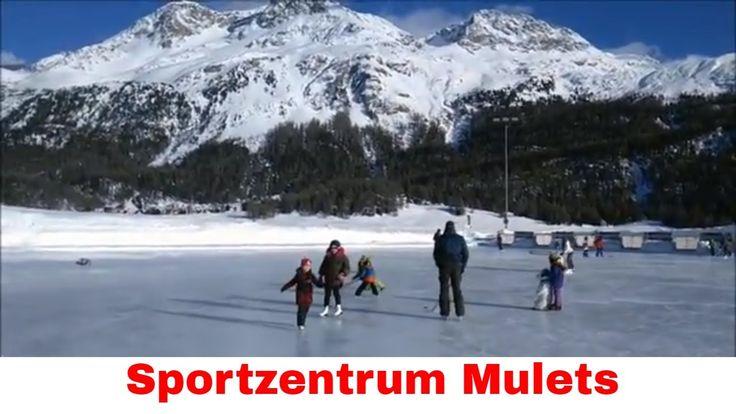 Ice skating Engadin Switzerland Silvaplana Sportzentrum Mulets