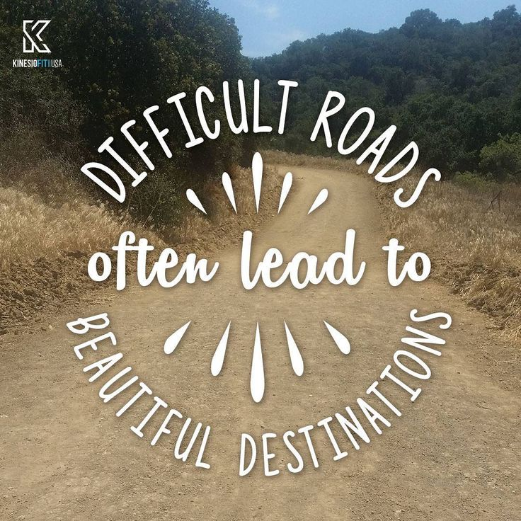 Happy Wednesday!  #difficultroads #futuredestination #inspiration #positivevibes #kinesiofitusa #sportstex #roadlesstraveled #wednesdayinspiration #positivewednesday #getinspired
