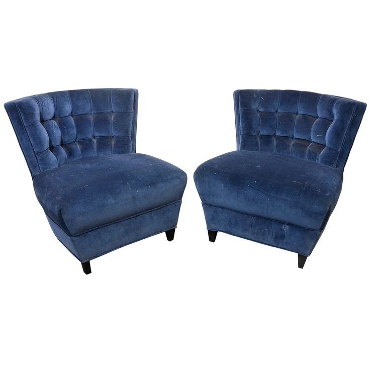 view this item and discover similar slipper chairs for sale at this stunning pair of tufted slipper chairs by james mont are upholstered in a midnight