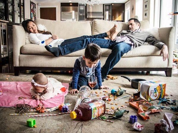 18 foto realistiche di famiglie: perchè la vita vera non prevede scatti perfetti
