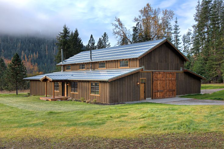 Barn Siding Pole Barn House Plans Exterior Rustic With