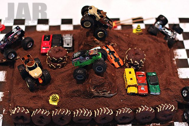 Finished Monster Truck Cake by Jayme • JAR Designs, via Flickr