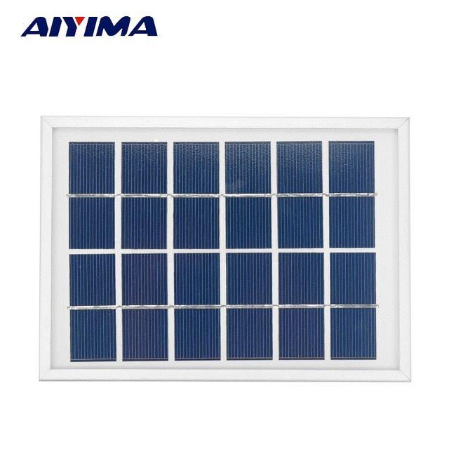 Aiyima Solar Panels 6v 2w Photovoltaic Panels Solar Emergency Battery Energy Plate 180x130mm Solars Photovoltaic Panels Best Solar Panels Flexible Solar Panels