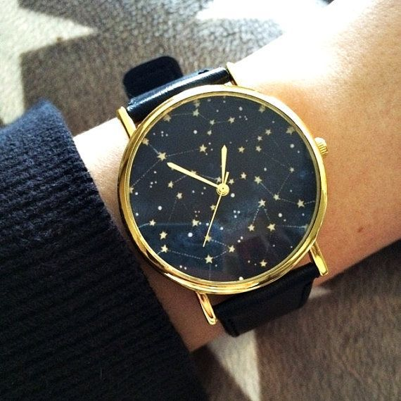 Constellation Watch, Sky Full of Stars Watch, Women Watches, Mens Watch , Unisex, Leather Watch, Vintage Style Ships Worldwide Type: Quartz Adjustable