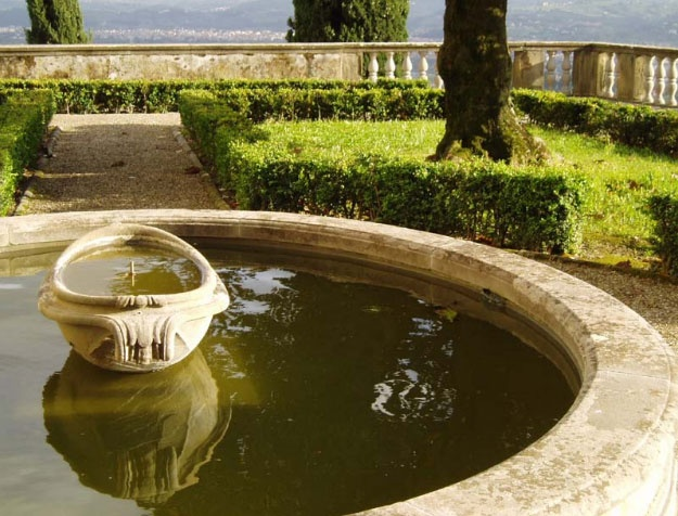 A Fountain at Villa Medici Fiesole