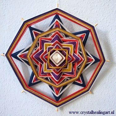 Geweefde mandala 32 cm van CrystalHealingArt op Etsy, €45.00