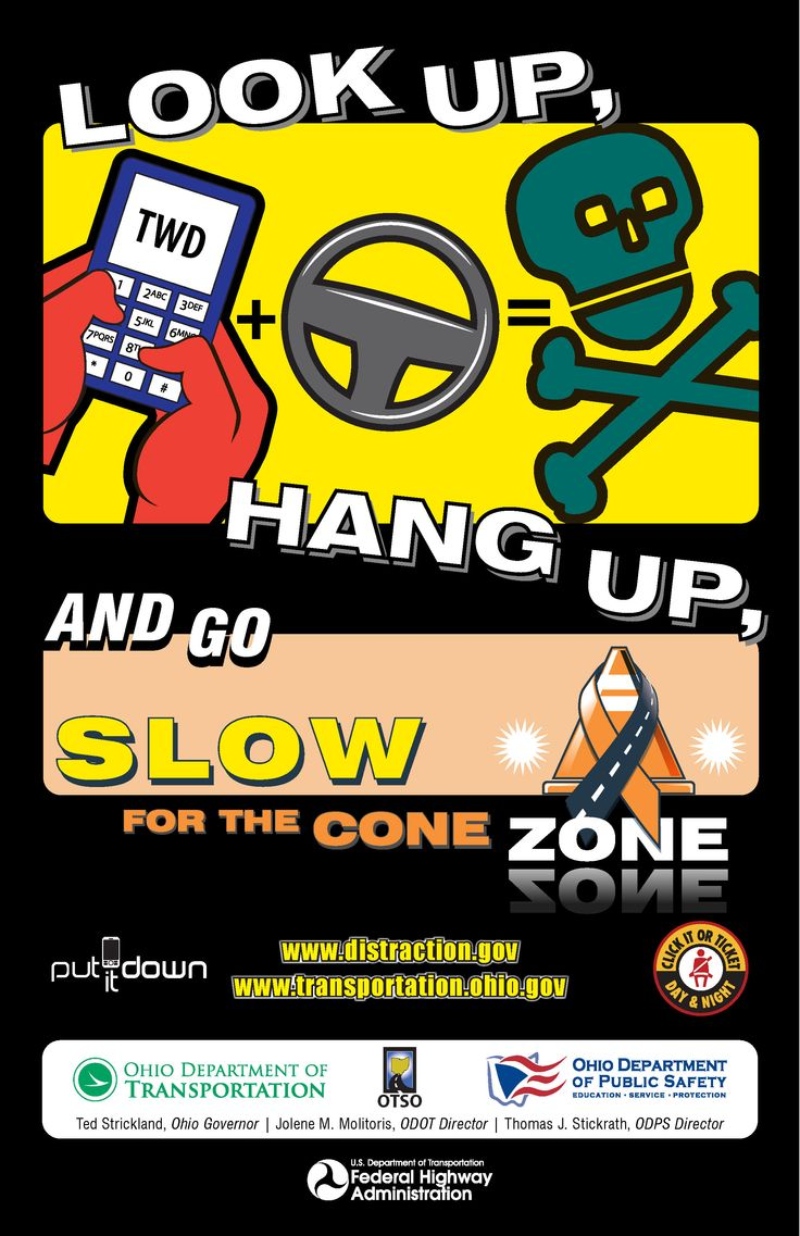 Slow down and pay attention in work zones
