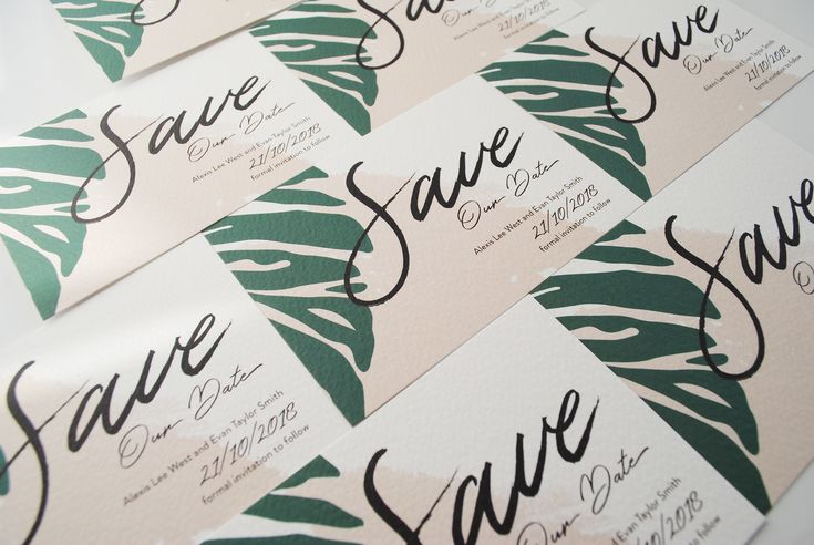 The Palm Cove Save the Date cards are the perfect initial invite to send to your guests to create excitement and to let them know in advance the tone of your wedding!
