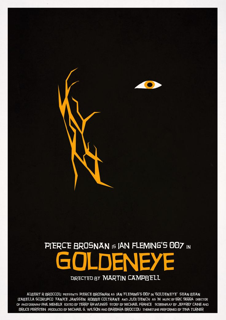 GoldenEye  minimalist movie poster  Mike Mahle  artist Goldeneye Movie Poster