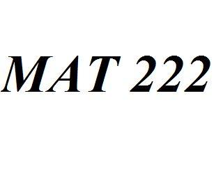 MAT222 Week 1 Quiz