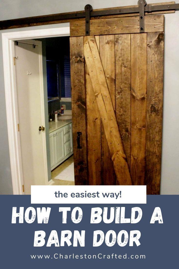 Easiest Cheapest Way To Build A Rustic Barn Door Free Pdf Plans Diy Sliding Barn Door Building A Barn Door