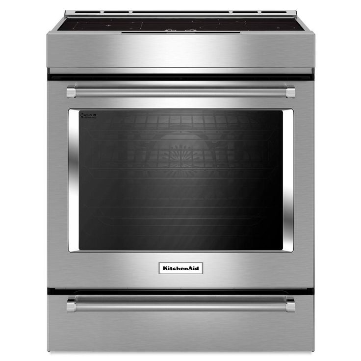 KitchenAid 30 in. 7.1 cu. ft. Slide-In Electric Range with Self-Cleaning Convection Oven in Stainless Steel (Silver)