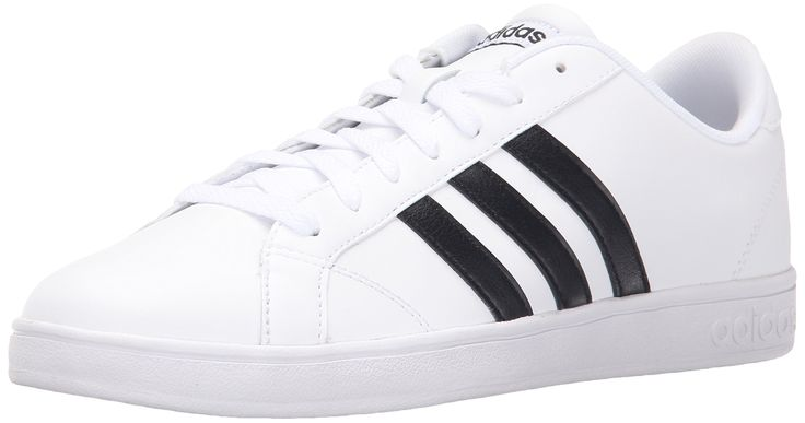 best service 1c1e1 8f9da adidas NEO Women s Baseline W Casual M US  Retro-inspired fashion sneaker  in leather featuring three-stripes branding and padded tongue and collar
