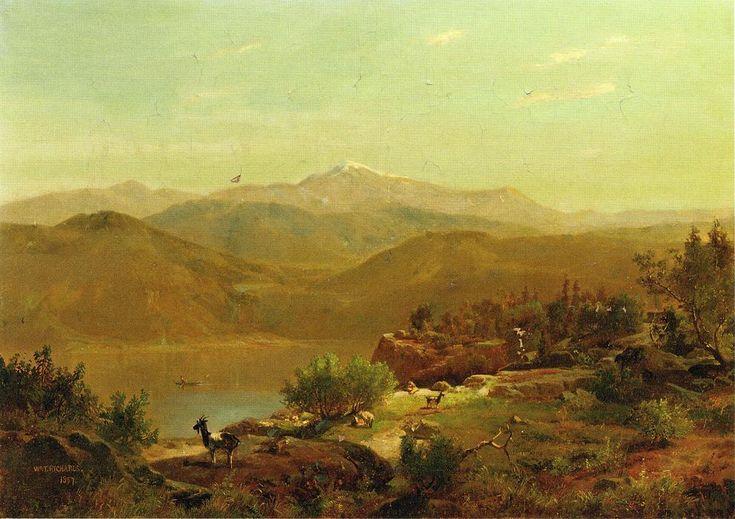 'landschaft', öl auf leinwand von William Trost Richards (1833-1905, United States)