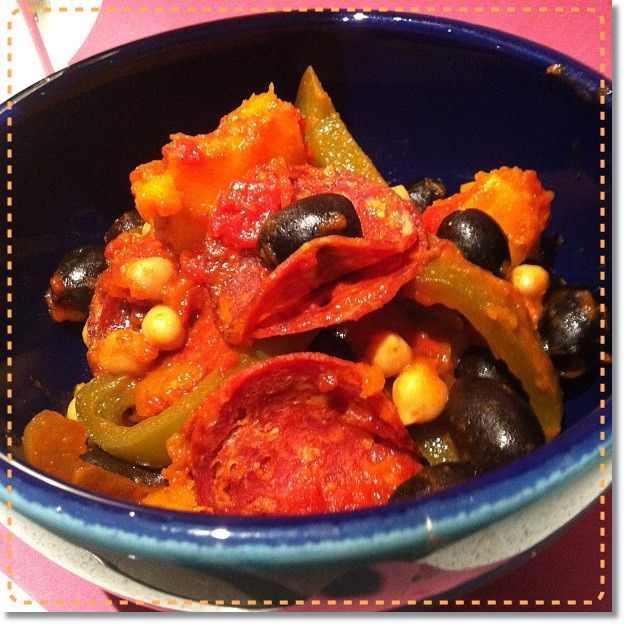 Warming Chickpea and Chorizo casserole 8 propoints