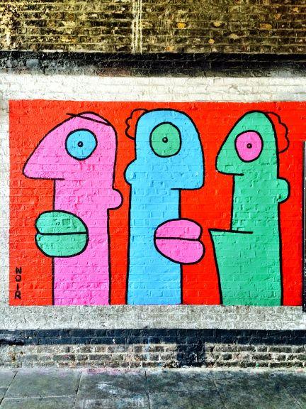 THIERRY NOIR http://www.widewalls.ch/artist/thierry-noir/ #ThierryNoir #streetart #murals #urbanart #contemporary