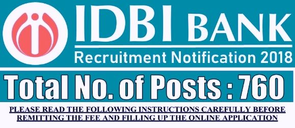 Pin By Examlover On Job Notification2018 Idbi Bank Post