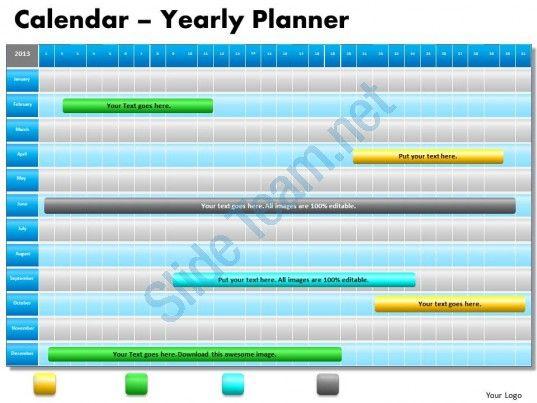 1 year planning gantt chart powerpoint slides gantt ppt templates - powerpoint calendar template