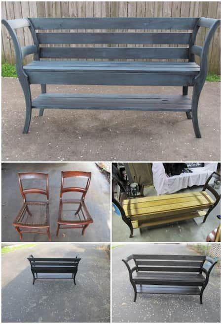Comment recycler 2 vieilles chaises en bois ?