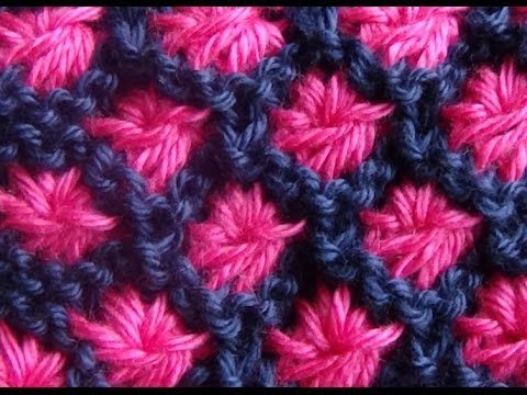 Cómo Tejer Flores en Colores-How to Knit Flowers in Colors 2 Agujas(224)