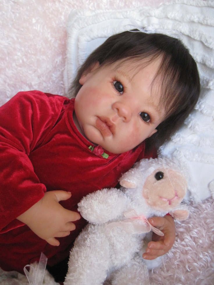 Cute Reborn Baby Doll Soft Silicone 18 Inch Handmade Baby: 66 Best Images About Adorable & Cute Dolls I Love On Pinterest