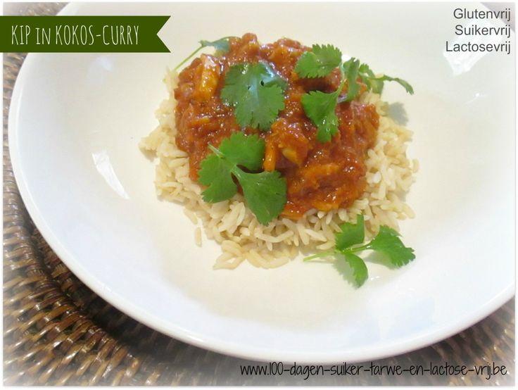 Kip met kokos-curry saus.