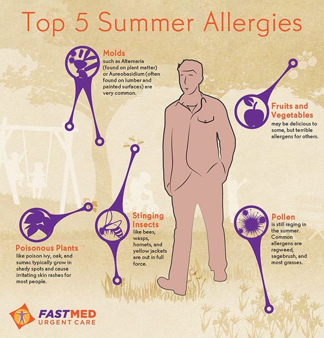 types of summer allergies