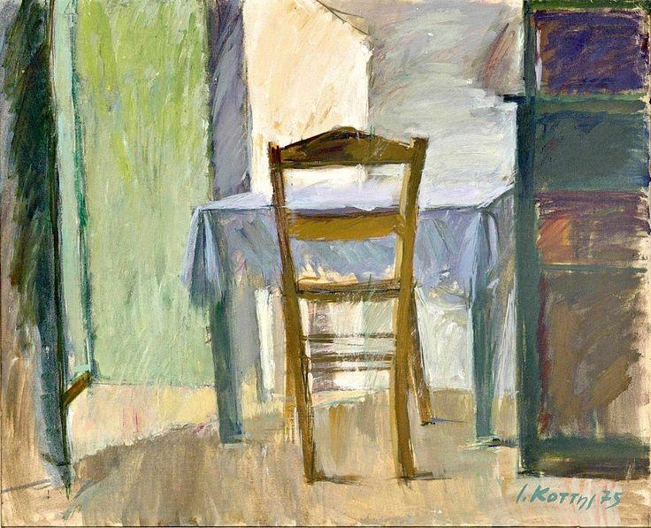 Yannis Kottis (Greek, b.1949) Sunny interior